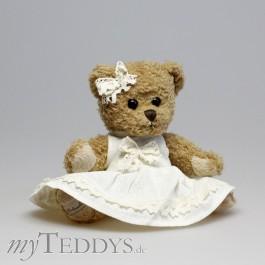 Ellen Teddybär mit weißem Kleid