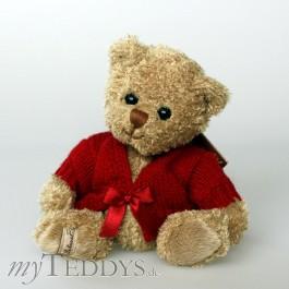 Vincent with burgundy sweater Bukowski Teddybär