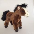 Plüschtier Pferd dunkel braun