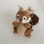 Squirrel Keyring Schlüsselanhänger Eichhörnchen braun